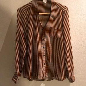 Women's sheer blouse. Button down.